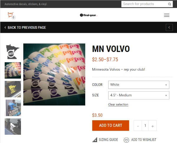 Click here to order some MN Volvo Stickers